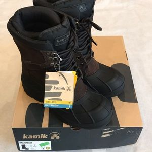 Kamik Men's Nationplus Snow Boots & Toe warmers 7